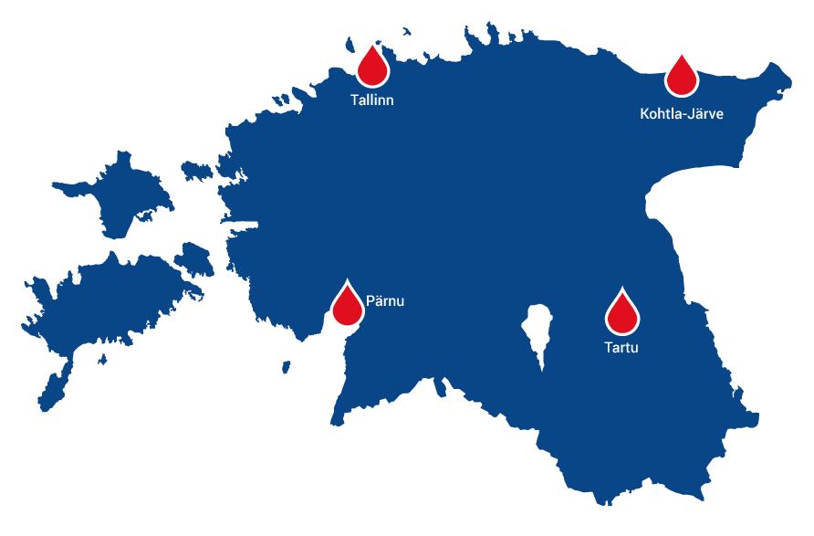 Blood Centres in Estonia